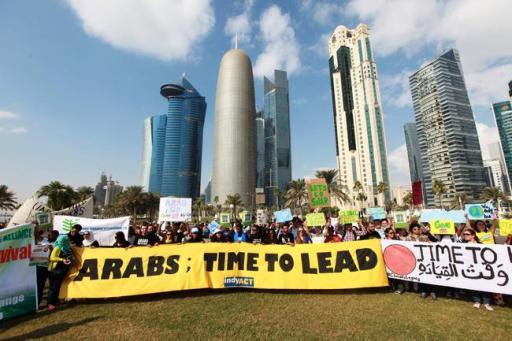 Las protestas truchas en Qatar. Un pais donde el despilfarro material es todo un arte