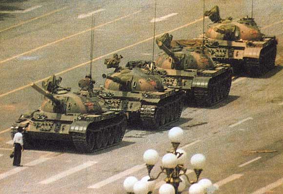 Tian'anmen 1989. Este tipo era un valiente