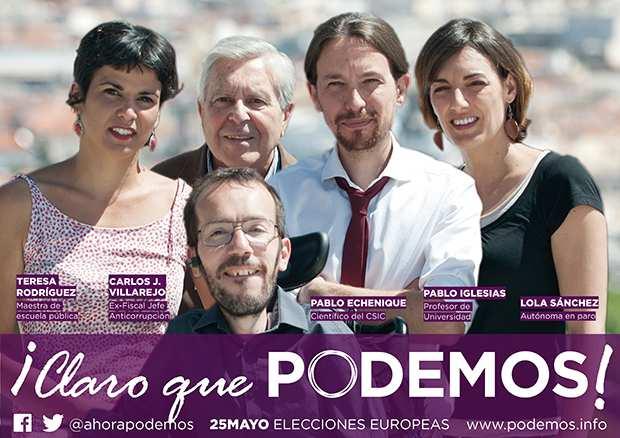 El cartel electoral de Podemos; parace que si pudieron. La duda es si podran mas, pero los que quieran deberian fijarse en lo que hacen.